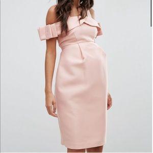 Asos pink maternity dress